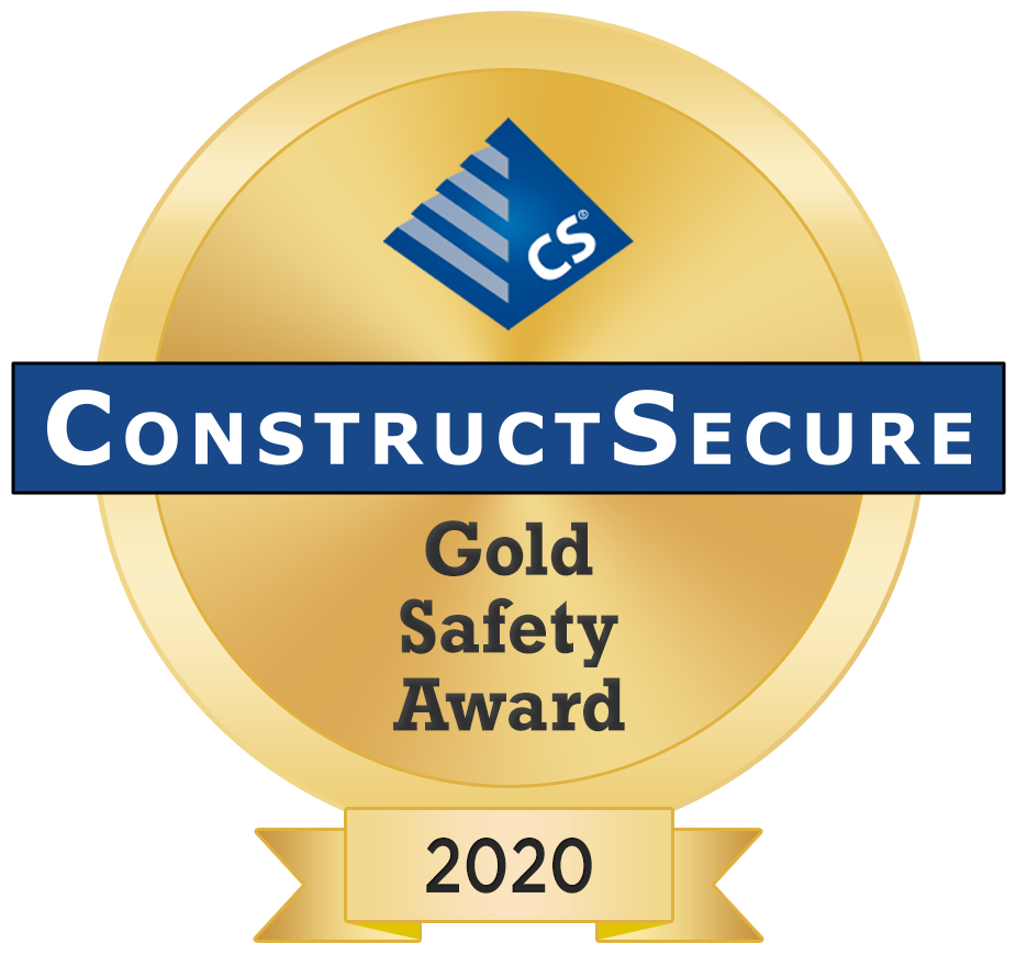 ConstructSecure Gold Safety Award 2020